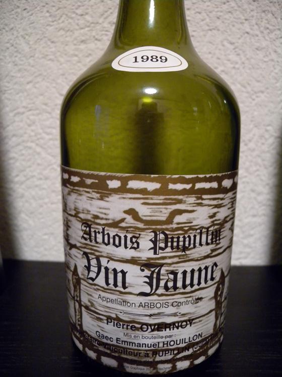 Vin jaune 1989 de Pierre Overnoy